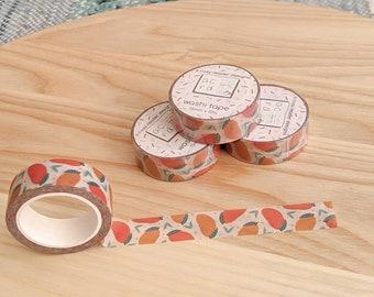 Mango Washi Tape - Planner Tape - Washi Masking Tape - Decorative Cute Washi Tape - Planner & BuJo Accessories - Tropical Summer