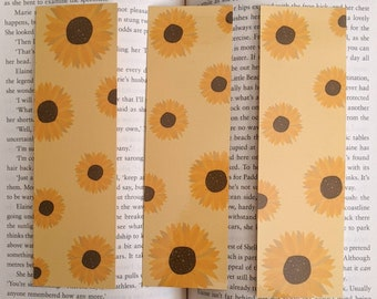 Sunflower bookmark - Floral Bookmark - Reader Gifts - Cottagecore Gifts - Gifts for Bookworms - Yellow Bookmark