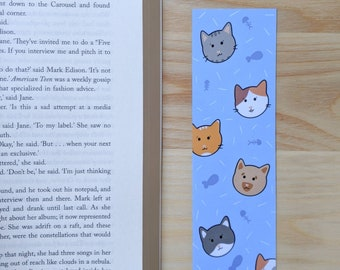 Cat bookmark - Kitten Bookmark - Reader Gifts - Gifts for Cat Lovers - Gifts for Bookworms
