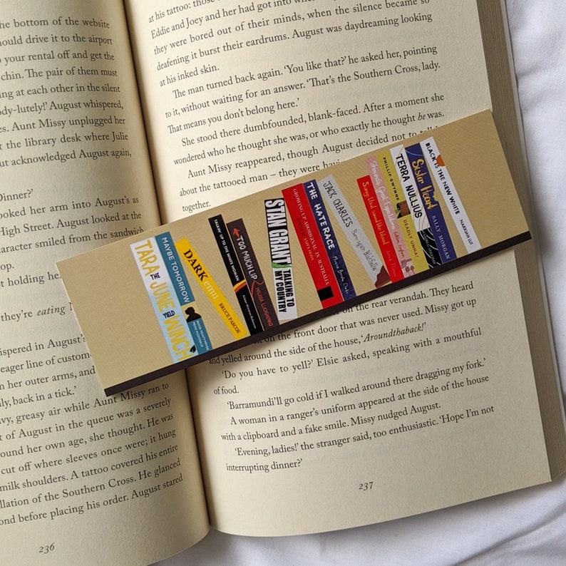 Black Australian Reads bookmark  Fundraiser bookmark - a cosy reading shop on etsy