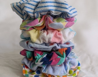 Scrunchies - Hair Accessory - Scrunchy - Reclaimed Soft Flannel Fabric