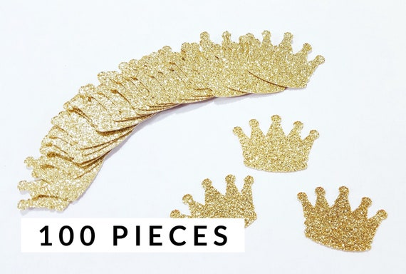 aa20534ebb9 100 pieces Gold Glitter Crown Confetti | Princess Party Decorations | 1st  Birthday Party Decor | Little Prince Decorations | Baby Shower