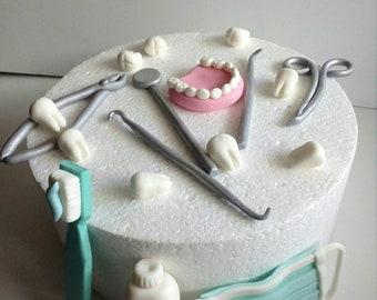 Medical Doctor Dentist 18pcs Fondant Cake Toppers Decoration Set