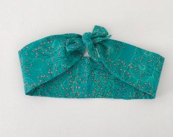 The 'Elle Bow' Hair Scarf in Nouveau Meadow - Woman's Retro Headband-