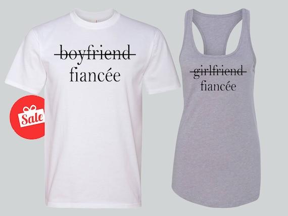 Fiancee Matching Shirts Boyfriend Girlfriend Fiancee Couple Etsy