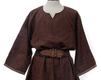 Open-Weave Tunic - Dark Brown- LARP, Cosplay, Costume