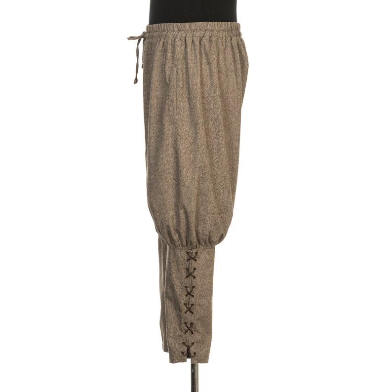 Viking Trousers  Loose Fitting  Black  Drawstring Waist Band  LARP Trousers  Viking Pants  LARP  Cosplay  Medieval Costume
