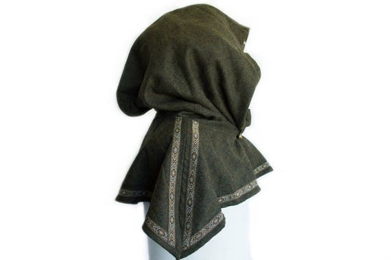 c3ac6e57a7a3 ... SCA Texture chinée Snood capuche - Cosplay, vert - LARP, Costume  Cosplay, ...