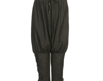 Viking Trousers / Loose Fitting / Grey / Drawstring Waist Band / LARP Trousers / Viking Pants / LARP / Cosplay / Medieval Costume