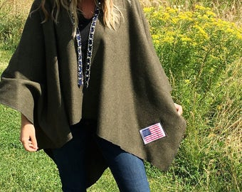 Military inspired poncho
