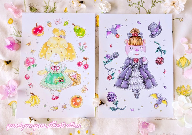Animal Crossing - A5 prints