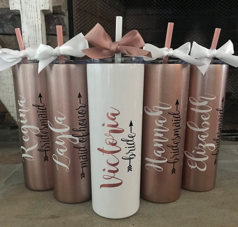 ROSE GOLD bridesmaid gift ideas bridesmaids gifts on a image 0