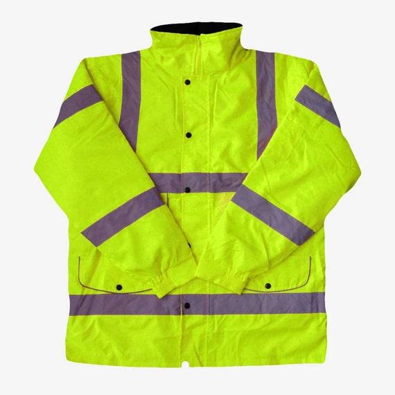 Hola Vis Impermeable Lluvia sobre pantalones de Alta Visibilidad Seguridad Trabajo Reflectante Viz