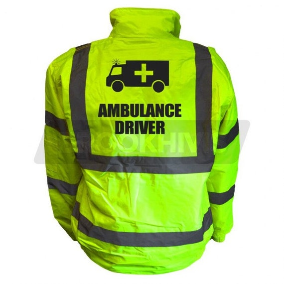 Premium Ambulance Yellow Green Hi Vis Viz Reflective Safety Vest Waistcoat Reflective High Visibility,