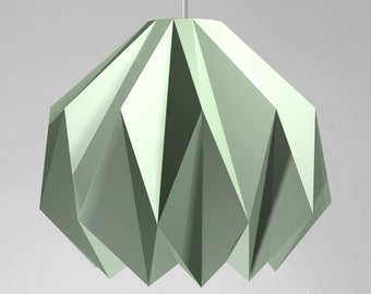 Origami II paper lamp shade, printable lampshade, papercraft Pdf template to make your ceiling decoration