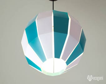 Modern hanging paper lampshade, printable lamp shade BALLOON, papercraft Pdf template to make your ceiling decoration