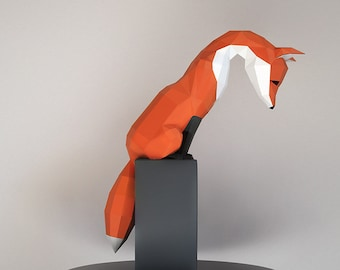 Make Your Own Paper Fox Sculpture