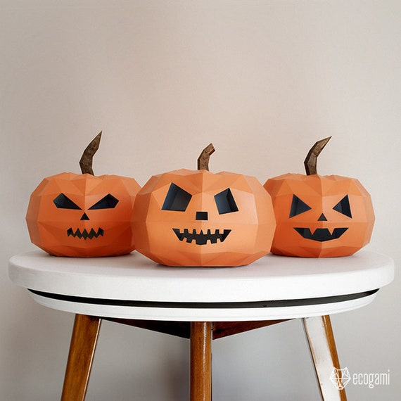 Make Your Own Papercraft Halloween Pumpkins Jack O Lanterns
