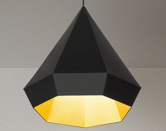 Paper lamp shade DIAMOND, printable lampshade, papercraft Pdf template to make your ceiling decor