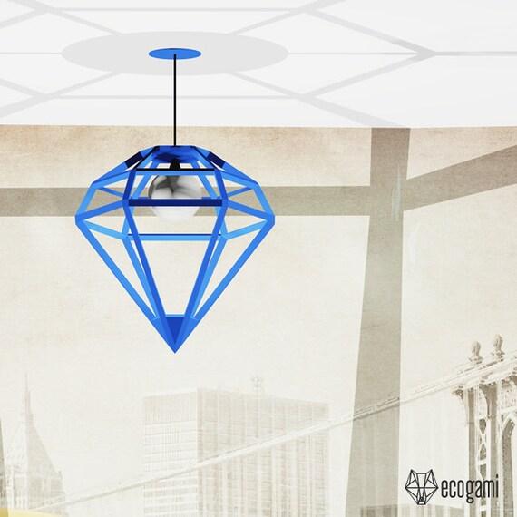 Haz tu propia pantalla de lámpara con forma de DIAMANTE | Etsy