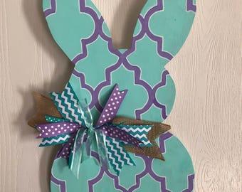 Custom Bunny Door Hanger