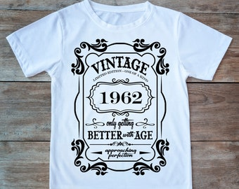 57th Birthday Present Gift Year 1962 Matured To Perfection TShirt Unisex Fun Tee