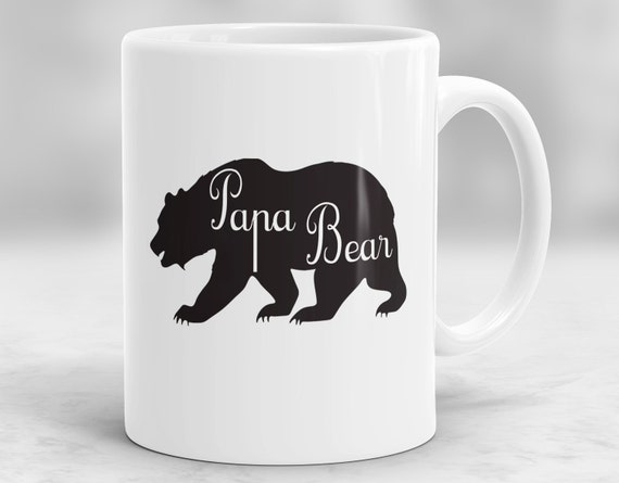 ours de papa ours mug tasse cadeaux de f te des p res papa etsy. Black Bedroom Furniture Sets. Home Design Ideas