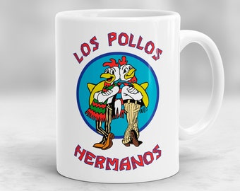 Los Pollos Hermanos Mug, Breaking Bad Mug, Breaking Bad Gift, Breaking Bad Inspired Coffee Mug P50