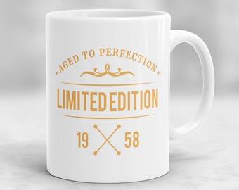 60th Birthday Mug, 60th Birthday Present Idea, 60th Birthday Gift, 1958 Birthday Mug, 60th Birthday Idea, Birthday Gift for 60 year old P71