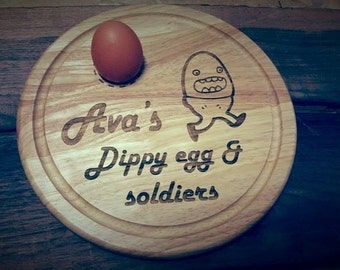 Egg and Soldier wooden boards.