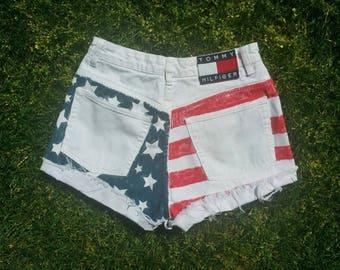 SALE Tommy Hilfiger- Vintage Tommy American Flag shorts
