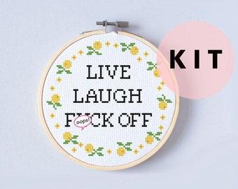 Funny cross stitch kit | Etsy