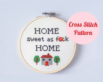 Cross Stitch Pattern Funny Mental Health Gift Positive