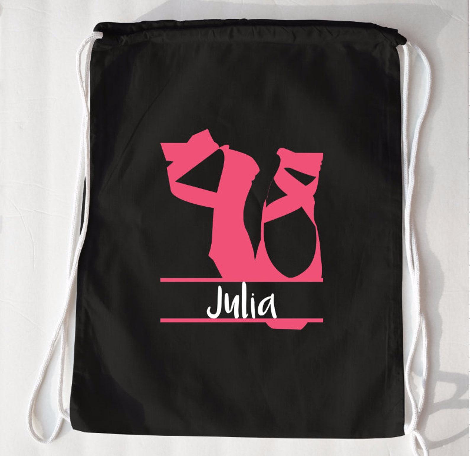 ballet drawstring bag | ballet bag | personalized ballet bag | girls dance bags | ballet gifts | personalized dance bag | pointe