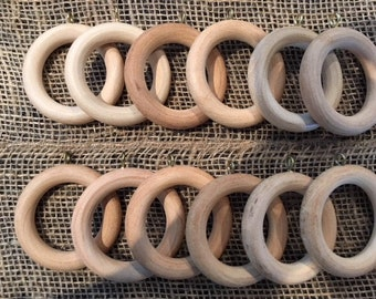 Vintage Wooden Curtain Rings