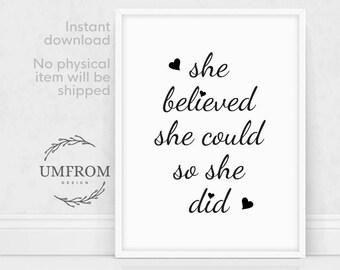 Teen Room Decor, Girl Room Decor, Printable Teen Decor, Teen Wall Art,  Printable Girl Gift, Kids Room Decor, Inspirational Print