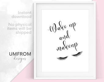 makeup print etsy