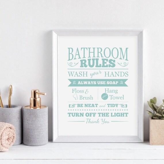 Kids Bathroom Ideas Bathroom Decor Kids Bathroom Art Kids Etsy
