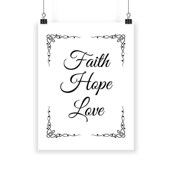 Faith Hope Love Faith Hope And Love Faith Love Hope Faith Etsy Unique Love Faith Hope Quotes