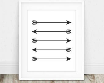 Black Arrow Art - Boho Arrow Decor, Nursery Arrow Decor, Arrow Wall Hanging, Arrow Wall Decor, Tribal Wall Art, Arrow Nursery Decor
