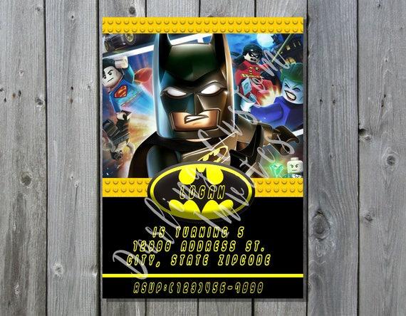 Lego Batman Invitacion