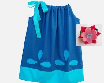 Princess Poppy dress and hug time hand band Poppy trolls pillowcase dress