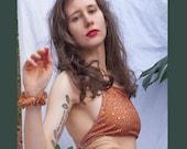 Mushroom Swimsuit / High Waisted Swimsuit / High Rise Bikini Briefs / Handmade / Eco Swim Wear / Coco Clem