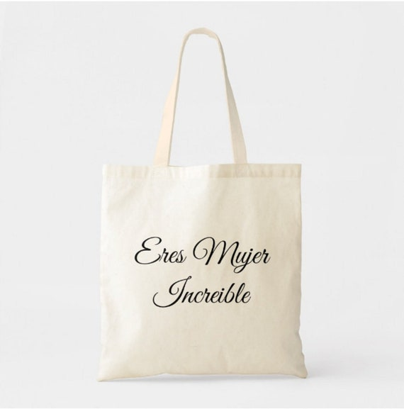 Eres Mujer Increible Tote Bag Incredible Woman Canvas Tote Etsy