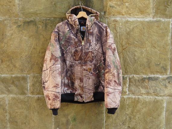90s CARHARTT Realtree Camo Hooded Jacket (size L)