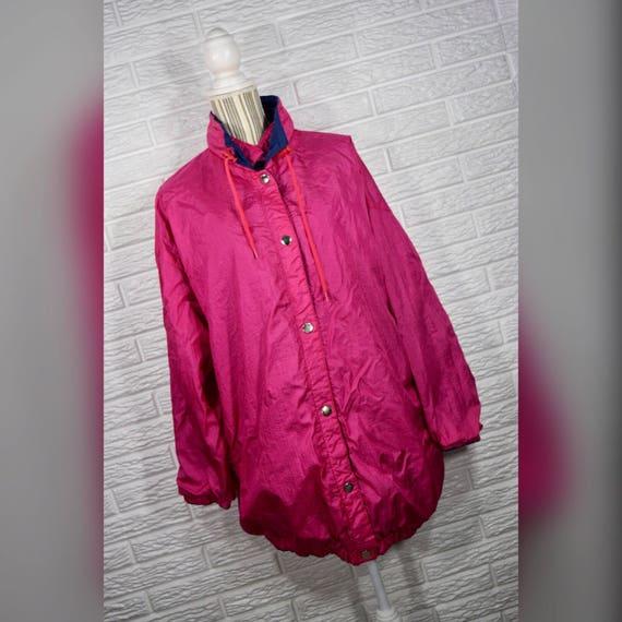 Vtg 80s Pink Puffer Coat