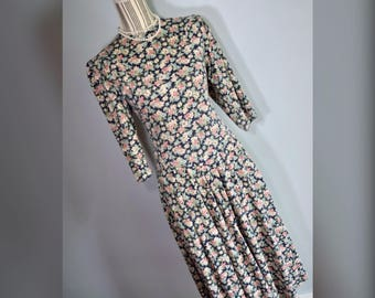 Vtg 80s Byer Too Floral Dress Sz 5