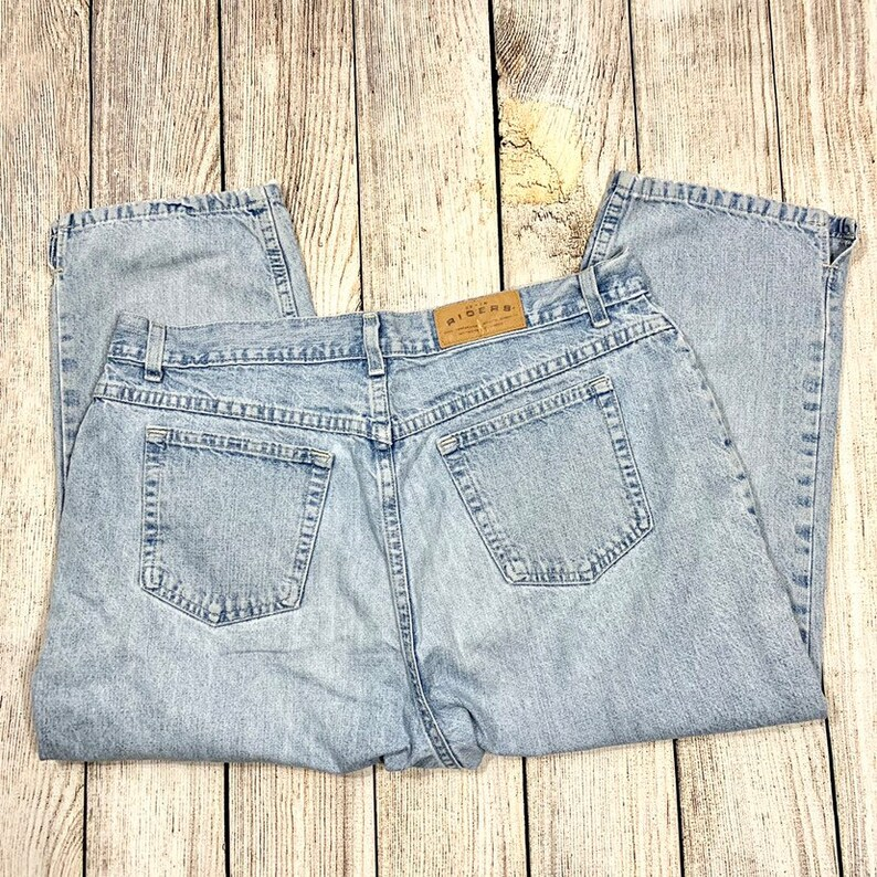 Vtg 80s90s Riders High Waisted Cropped Mom Jeans