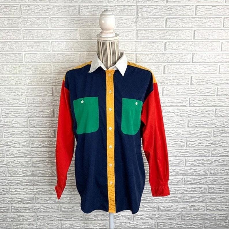 Vintage Cabin Creek Color Blocked Button Up Shirt
