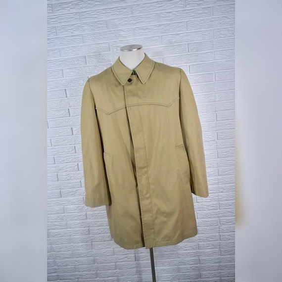 Vtg London Fog Mens Olive Green Trench Coat
